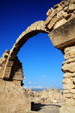 Saranda Kolones, Pahos,塞浦路斯 免版税库存图片