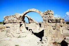 Saranda Kolones, Cypern Royaltyfria Bilder