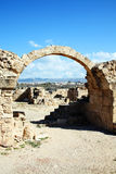 Saranda Kolones, Paphos, Chipre Foto de archivo
