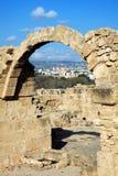Saranda Kolones, Paphos, Chypre Images libres de droits
