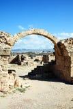 Saranda Kolones, Paphos, Cypern Arkivfoto