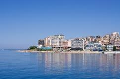 Saranda miasto - lato kurort, Albania Obrazy Stock