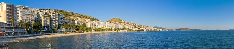 Saranda miasto - lato kurort, Albania Obrazy Royalty Free