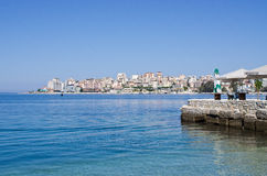Saranda miasto - lato kurort, Albania Obraz Royalty Free
