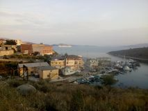 Saranda& x27;s port, Albania royalty free stock images
