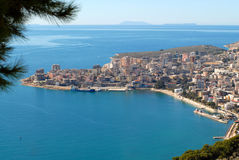 Saranda by sea Stock Photos