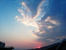 Saranda-Sonnenuntergang stockfotos