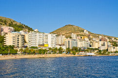 Saranda-Stadt - Sommerurlaubsort, Albanien Lizenzfreies Stockbild