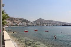 Sarande. Albania in the August summer sun Royalty Free Stock Images