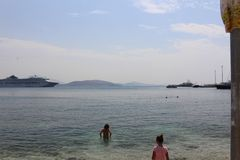 Sarande. Albania in the August summer sun Royalty Free Stock Photo