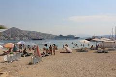 Sarande. Albania in the August summer sun Stock Photography