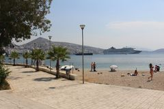 Sarande. Albania in the August summer sun Royalty Free Stock Photography