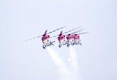 Sarang, die in een vorming vliegen Royalty-vrije Stock Foto