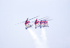 Sarang, flying in a formation. Royalty Free Stock Photo