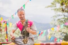 Sarangi, het Traditionele Muzikale Instrument van Nepali royalty-vrije stock foto's