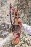 Sarangi, het Traditionele Muzikale Instrument van Nepali royalty-vrije stock fotografie