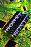 Sony. SARANSK, RUSSIA - MARCH 18, 2018: AA-sized alkaline batteries produced by Sony Royalty Free Stock Images