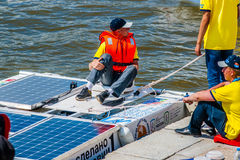 Saransk University solar boat Stock Photos