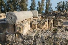 Saranta Colones城堡废墟在帕福斯 免版税库存图片