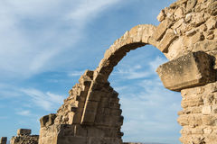 Saranta Colones城堡废墟在帕福斯 免版税库存照片
