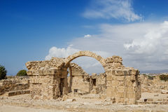 Saranta Kolones at Paphos Archaeological Park Royalty Free Stock Image