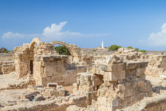 Saranta Kolones at Paphos Archaeological Park, Cyprus. Royalty Free Stock Photos