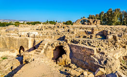 Saranta Kolones, a ruined medieval fortress in Paphos Royalty Free Stock Images