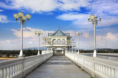 Sarasin Bridge. In 1970, the Sarasin Bridge was built to help connect Phuket Island to the mainland of Thailand. This enabled the tremendous expansion of trading royalty free stock photos