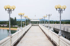 Sarasin Bridge, link between main land of Thailand and Phuket Island Royalty Free Stock Photos