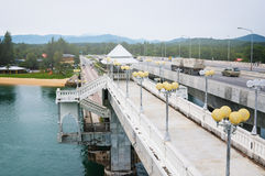 Sarasin Bridge, link between main land of Thailand and Phuket Island Stock Photography
