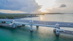Sarasin love story bridge in Phuket island Royalty Free Stock Images