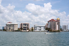 Sarasota. Condos by the bay, Sarasota Florida Royalty Free Stock Photo