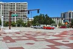 Sarasota-Buchtvorderradantrieb Stockfotos