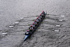 Sarasota Crew races in the Head of Charles Regatta Women's Youth Eights Stock Photo