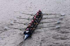 Sarasota Crew races in the Head of Charles Regatta Women's Youth Eights Stock Photography