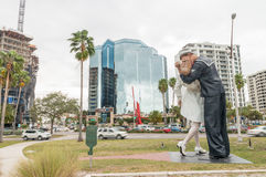 SARASOTA, FL - JAN 13: The statue titled Unconditional Surrende Royalty Free Stock Images