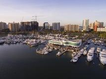 Sarasota, FL - ` s de Marina Jack Imagenes de archivo