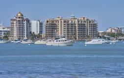 Sarasota Florida hamn Fotografering för Bildbyråer