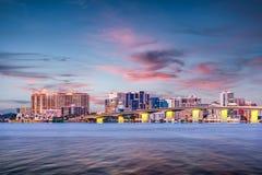 Sarasota, Florida, USA. Downtown skyline on the bay Royalty Free Stock Images