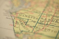 Sarasota Floryda mapa obraz stock