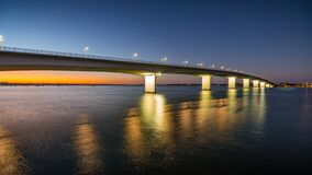 Free Sarasota`s Circus Bridge Leads To Longboat Key At Sunrise Stock Images - 187291134