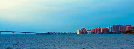 Sarasota Skyline and Ringling Causeway Royalty Free Stock Photography