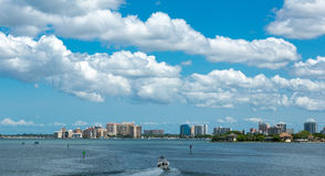 Sarasota Skyline View from Ringling Bridge Stock Images