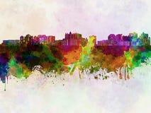 Sarasota skyline in watercolor Stock Image