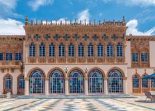 Ringling`s mansion Ca d`Zan modeled after the Doges Palace in Ve. SARASOTA, USA - APRIL 22, 2016: Ringling`s mansion Ca d`Zan modeled after the Doges Palace in stock photo