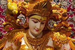 Saraswati bóg Hinduski bawić się sittar, vina/ fotografia royalty free