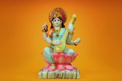 Saraswati indio de la diosa Fotos de archivo