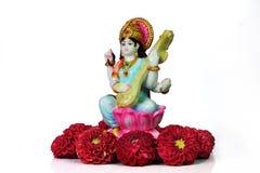 Saraswati indio de la diosa Imagen de archivo libre de regalías