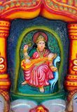 Saraswati's image on the altar at the Hindu temple Stock Images