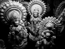 Saraswati statues Royalty Free Stock Photography